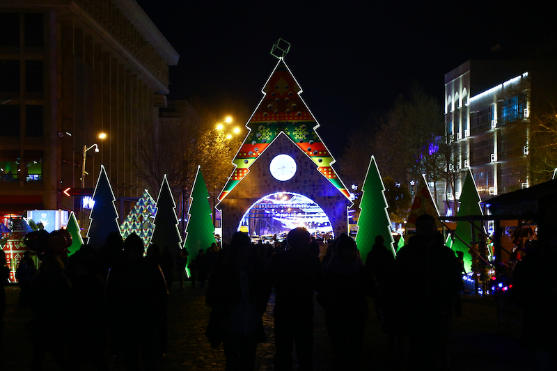 Christmas village in the centre of Tbilisi, Georgia