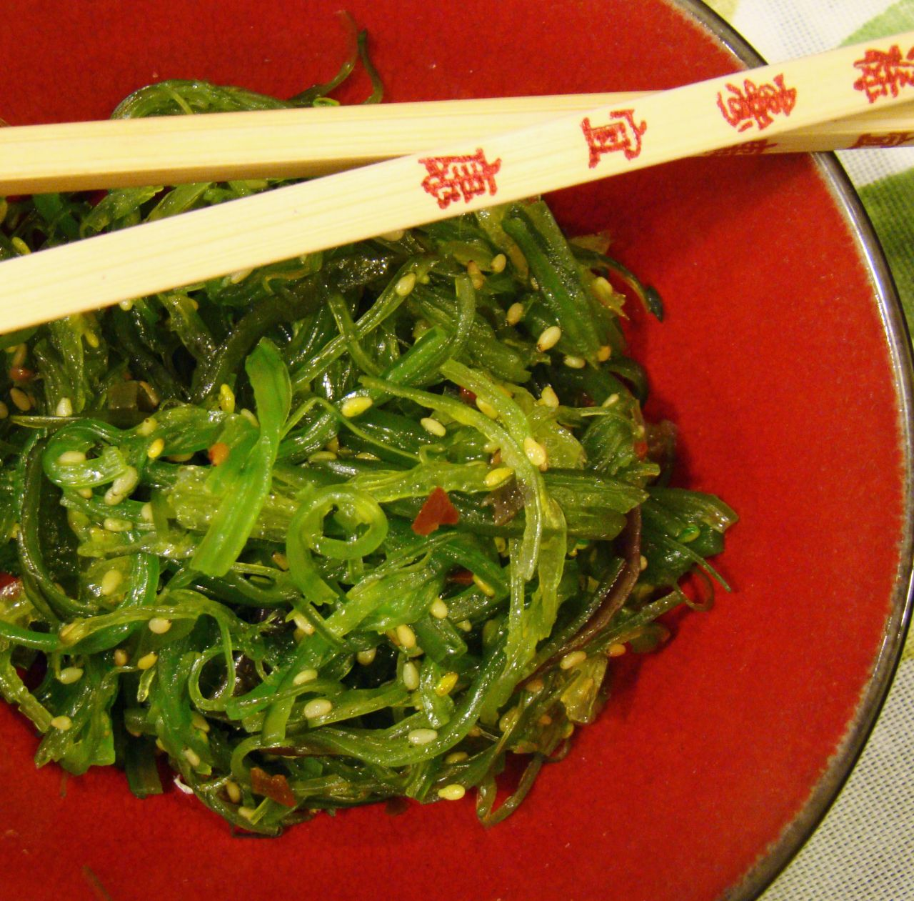Seaweed salad has been part of the Chinese diet for hundreds of years.