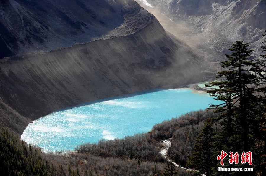 A hidden cove in Bomi county and Chayu county in Tibet Autonomous Region, a place known for its natural beauty and resources.