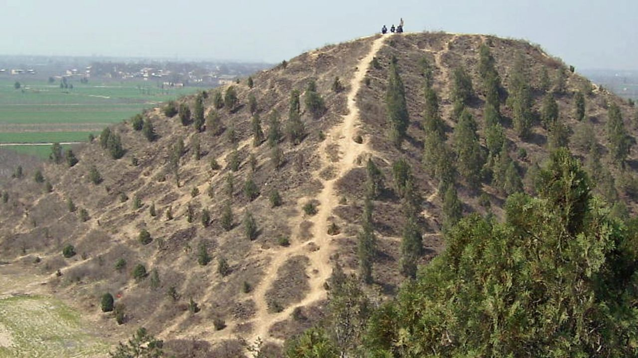 The mystery behind China's giant pyramid hills