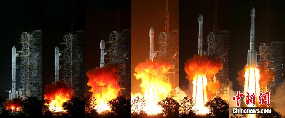 The Long March 3B launch of China's Chang'e-3 lunar landing mission in December 2013.