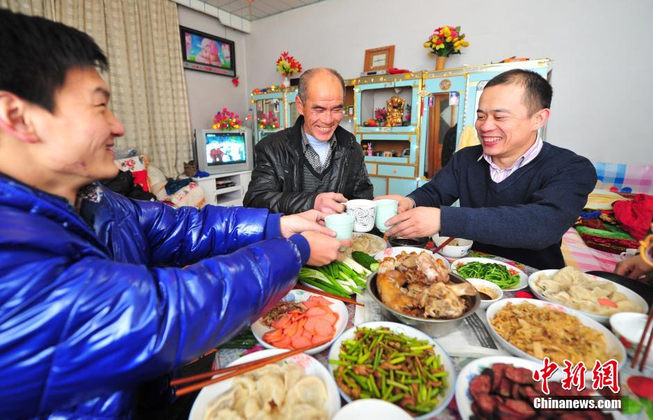 """The Spring Festival also represents a time of reunion for Chinese families. Family members will come together to enjoy a reunion dinner, also named as """"Nian Ye Fan"""", on the evening of New Year's Eve."""