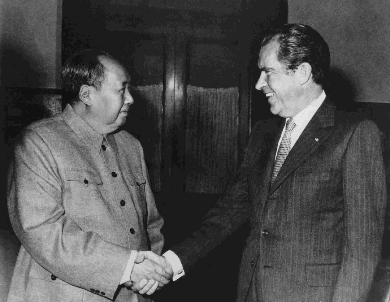 On February 21, 1972 President Nixon arrived in Beijing, the first American head of state ever to set foot on the Chinese Mainland.