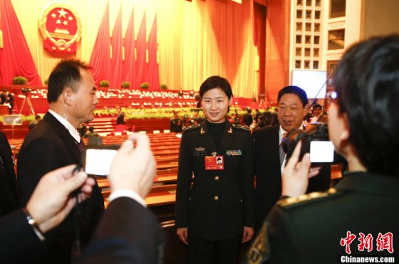 Liu Yang, inside the Main Auditorium of the Great Hall of the People, is elected a deputy to China's National People's Congress, the nation's top legislative body, in March 2013.