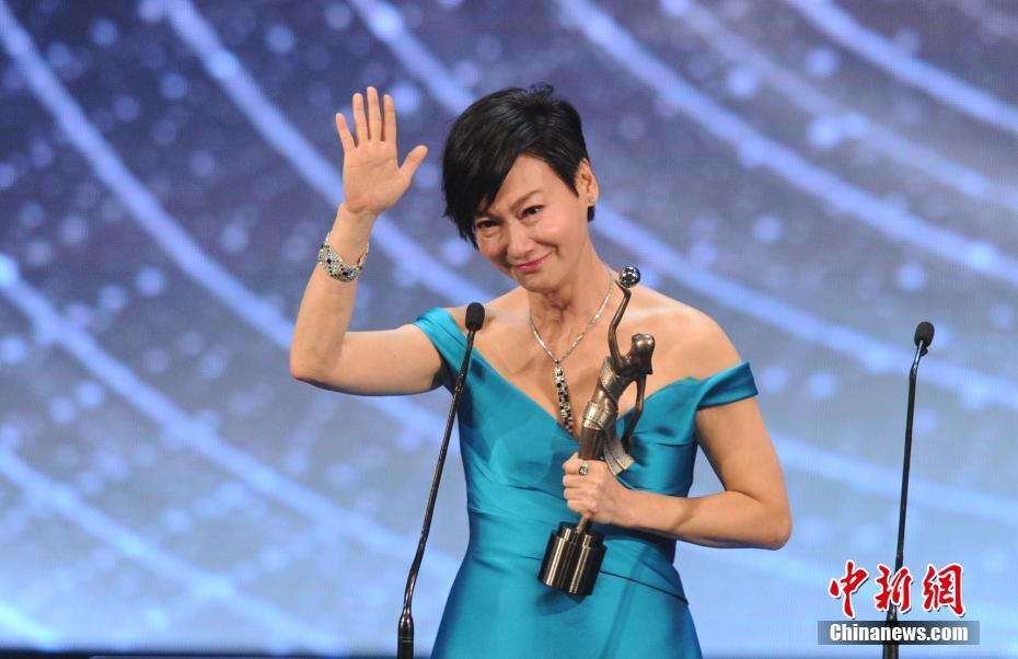 Hong Kong actress Kara Wai won her third Best Actress award at the Hong Kong Film Awards on Sunday for her role in the film Happiness.