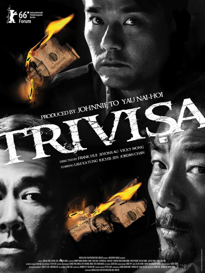 Hong Kong crime drama Trivisa, which is banned in mainland China, won five prizes at the 36th Hong Kong Film Awards on Sunday, including Best Film.