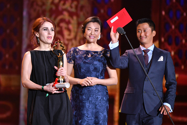 Lia Kapanadze of the film Luka received Best Supporting Actress at the 7th Beijing International Film Festival on April 23, 2017.