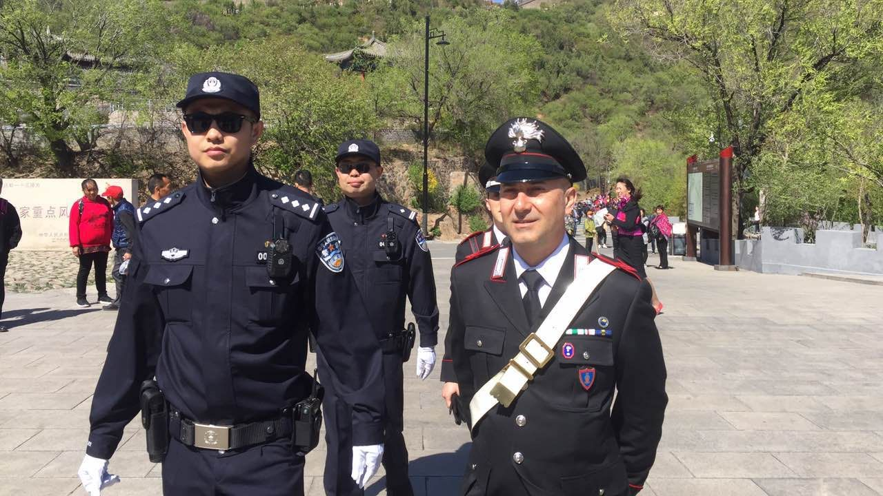 Four Italian police officers start two-week tourist patrol in China