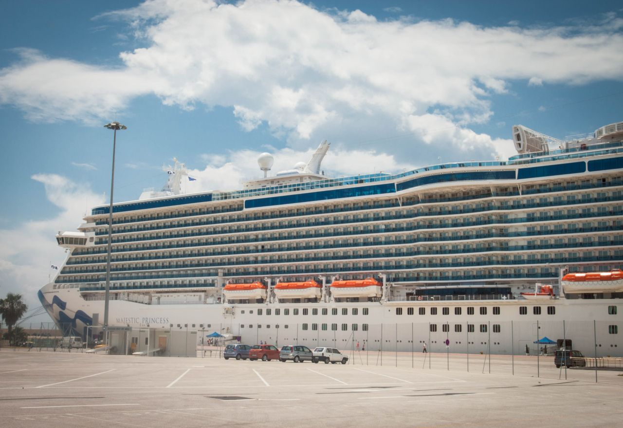 The Majestic Princess stayed one day in Piraeus.