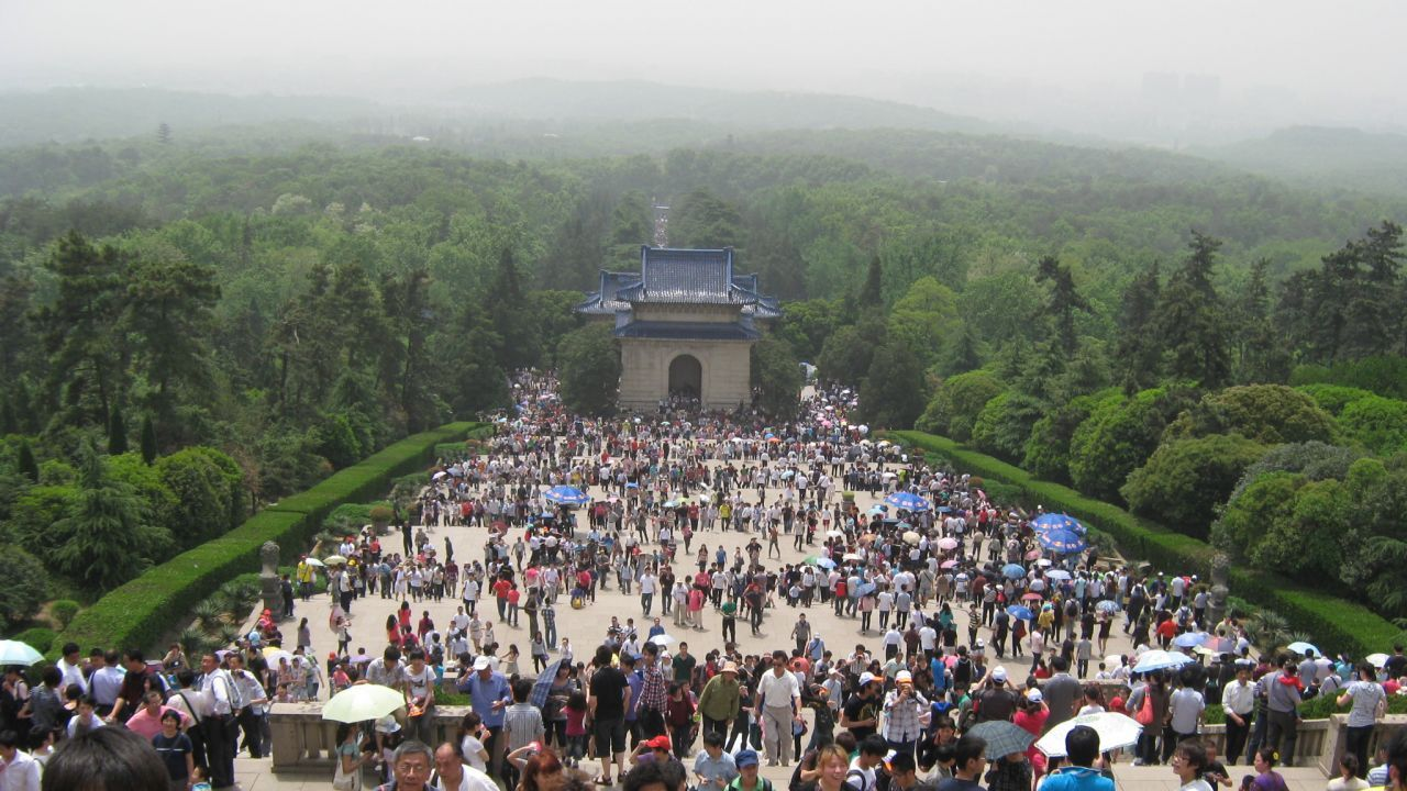 The sights of Nanjing's Purple Mountain