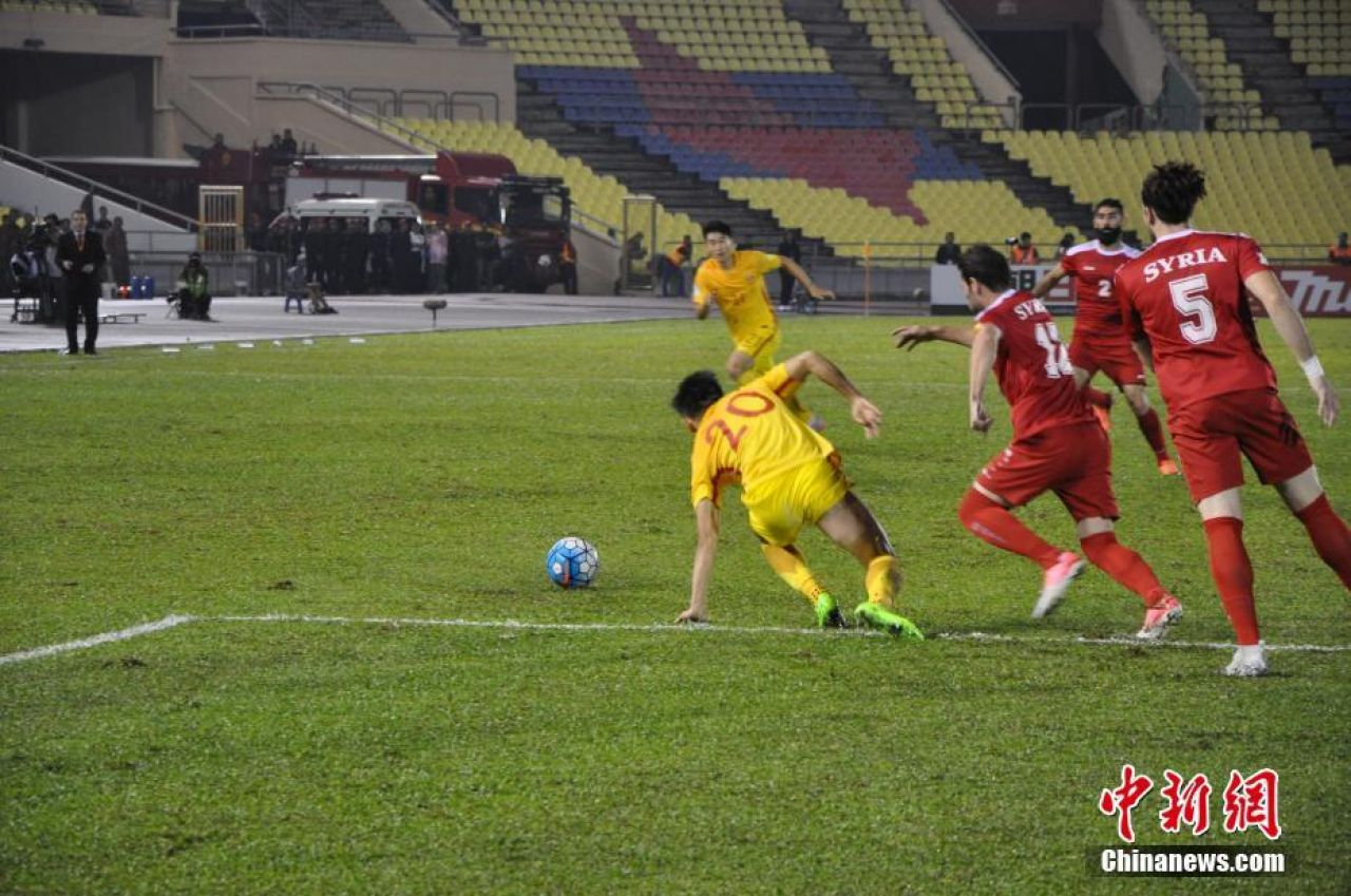 China draws 2-2 with Syria, all but ending World Cup 2018 hopes