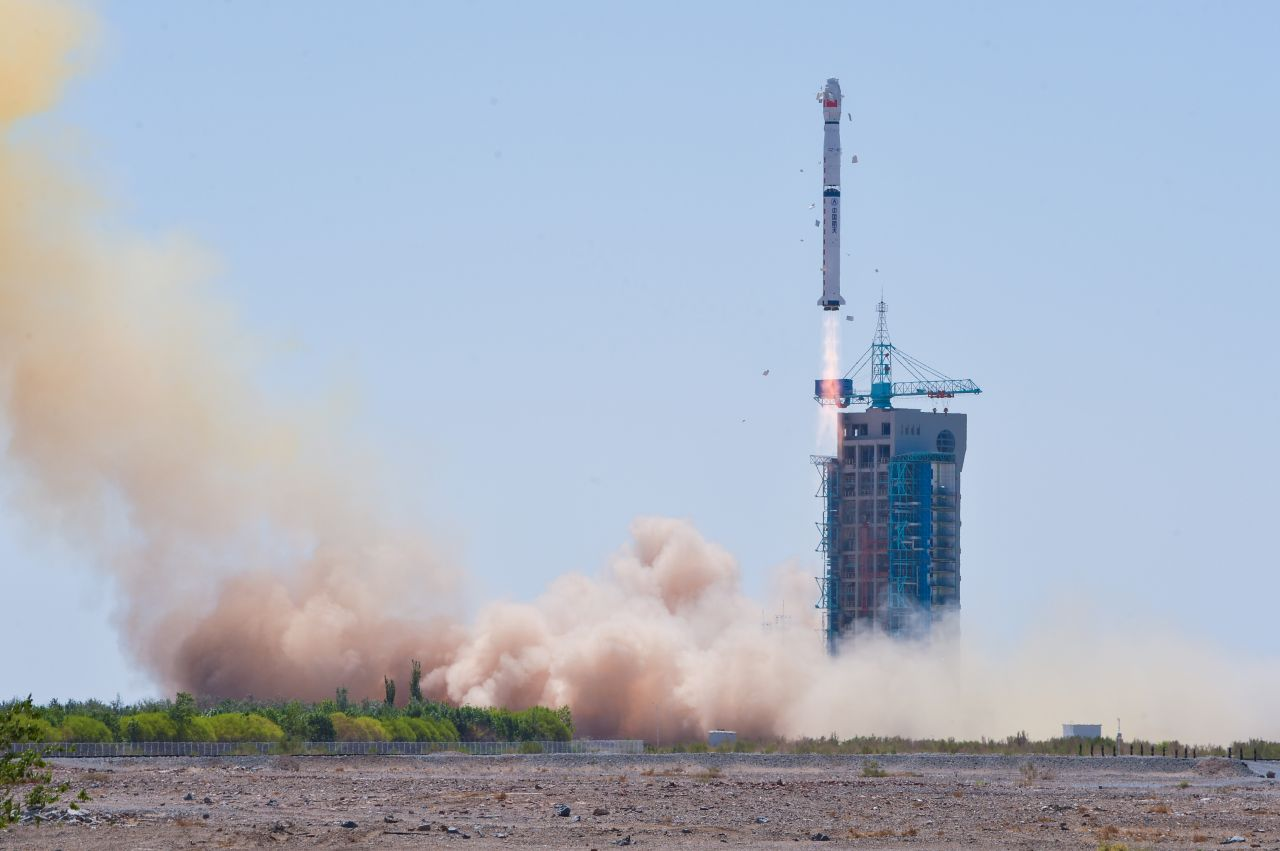 China's Hard X-ray Modulation Telescope, HXMT, or Huiyan (Insight), lifts off from Jiuquan at 11:00 on June 15, 2017 atop a Long March 4B launch vehicle.