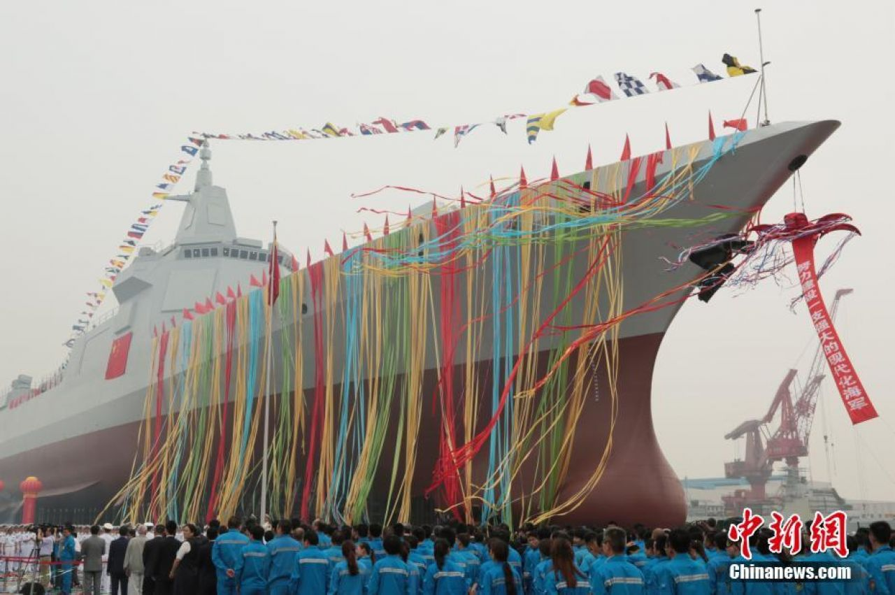China launches first 10,000-tonne destroyer