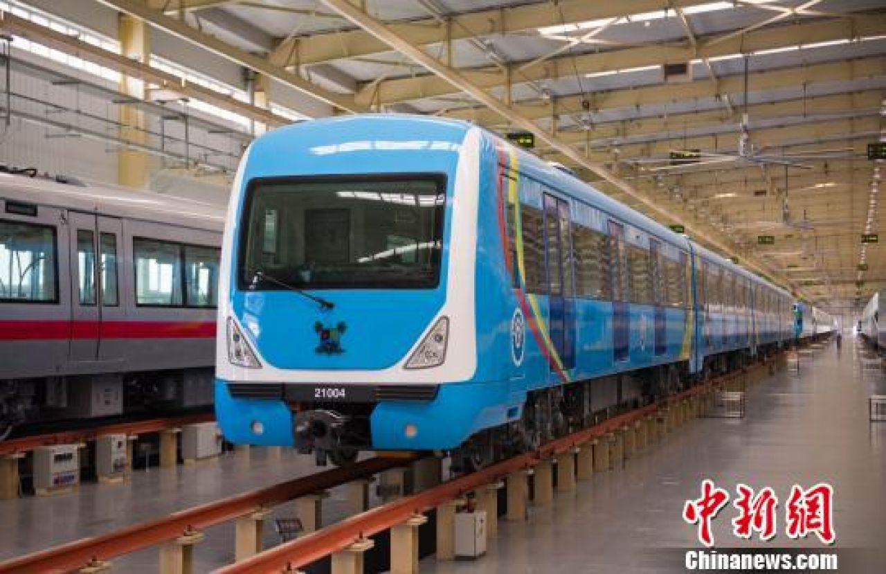Africa-bound trains roll off assembly line in eastern China