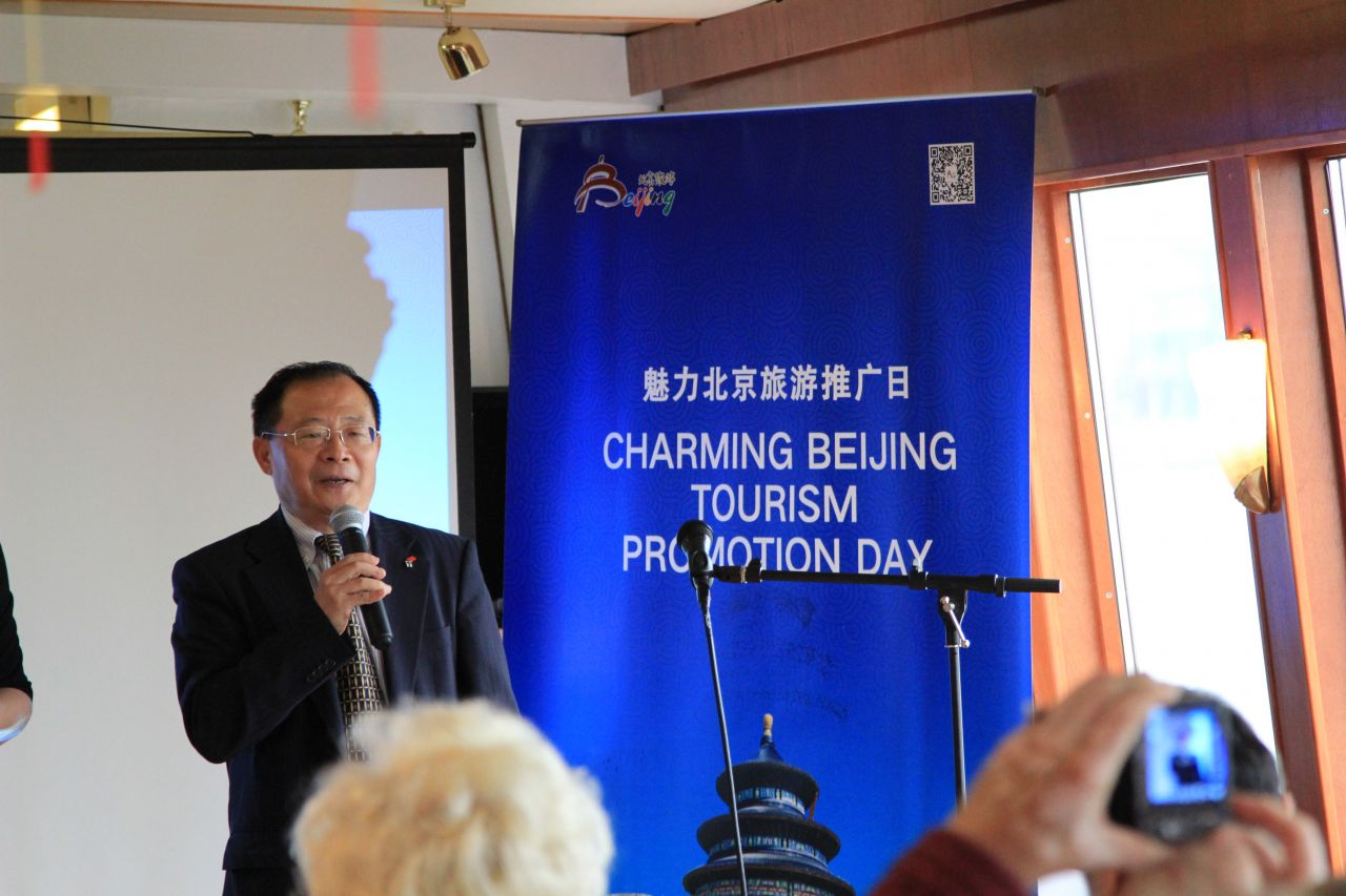 Guo Xiao Guang, Cultural Counselor at the Chinese Embassy in Helsinki, opened the Charming Beijing event in Helsinki.