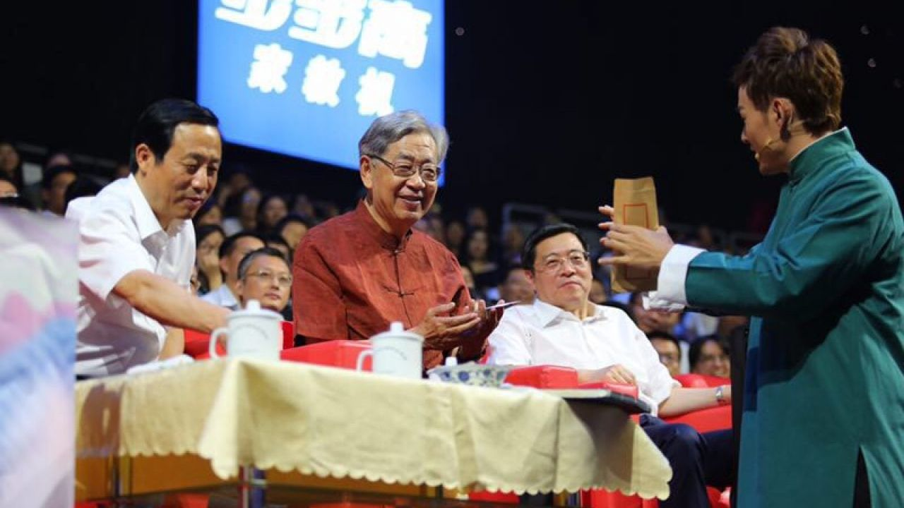 Xu Jialu, founder of the Chinese Bridge competition, attended the 2017 final.