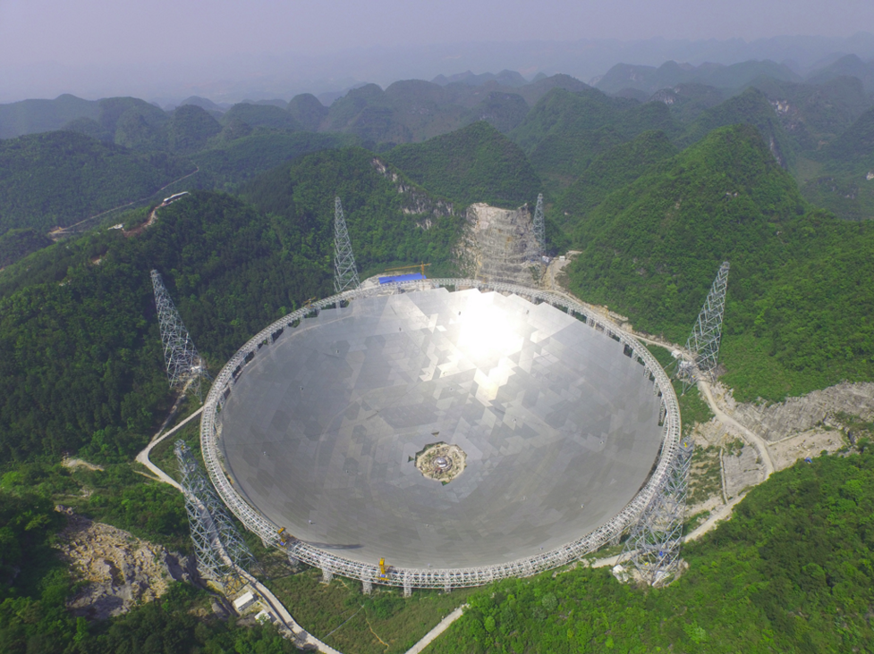 China's gigantic Five hundred meter Aperture Spherical Telescope (FAST) in Guizhou (Fast.bao.ac.cn).