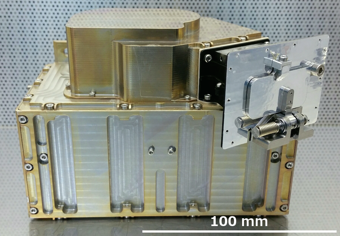 The Advanced Small Analyzer for Neutrals (ASAN) instrument built by the Swedish Institute of Space Physics (IRF) in Kiruna. (Image: M. Wieser, IRF)