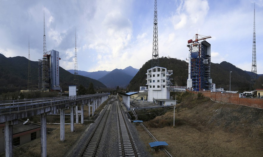 Belintersat-1 atop the Long March 3B on the LC3 launch pad at the Xichang launch centre in Xichang in early January, 2016. Photo courtesy of Belintersat.com.