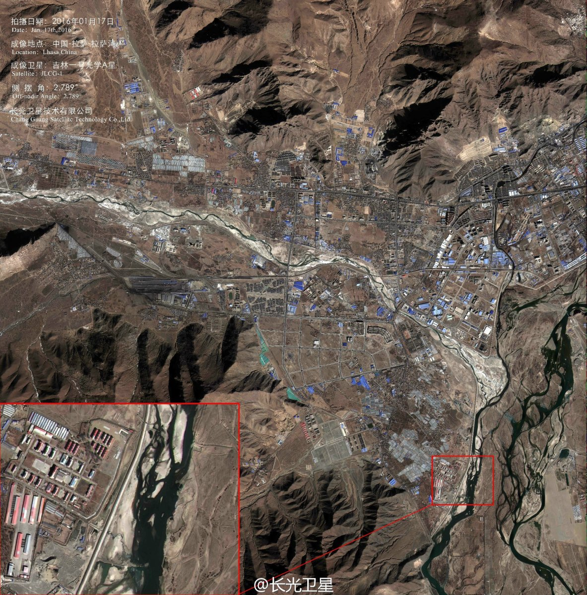 Jilin Chinas First Commercial Remote Sensing Satellites Aim To - Satellite picture of
