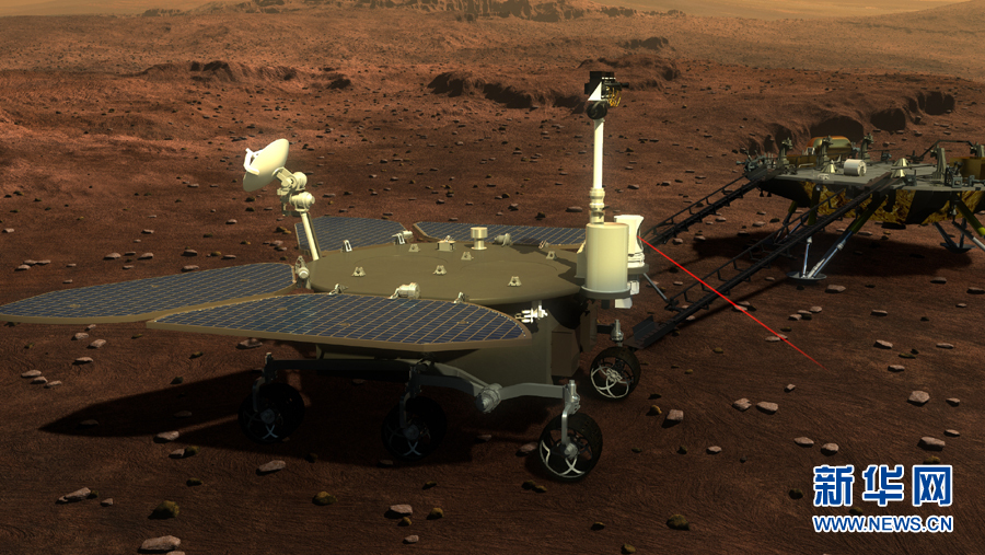 Artist impression of China's 2020 Mars rover.
