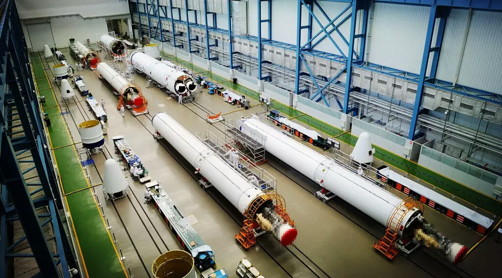 Long March 7 components being manufactured in Tianjin under the China Aerospace Science and Technology Corporation (CASC).