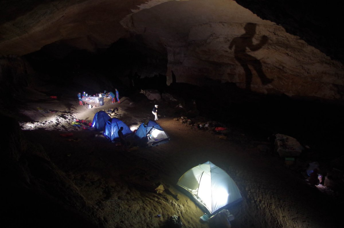 Mysterious shapes at the 2013 CAVES camp (ESA/V.Crobu).
