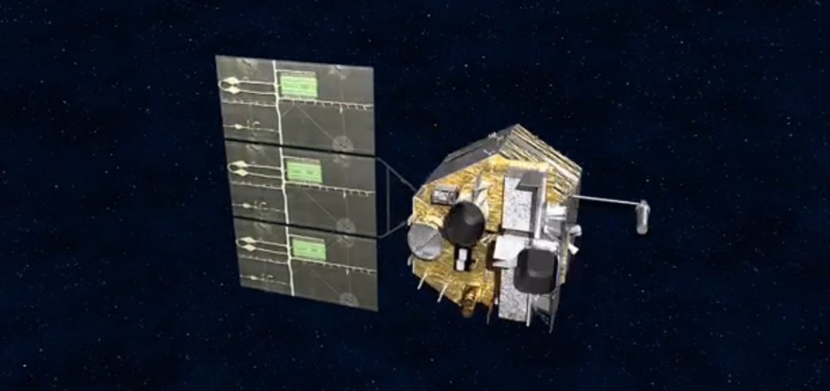 A rendering of China's Fengyun-4A meteorological satellite.