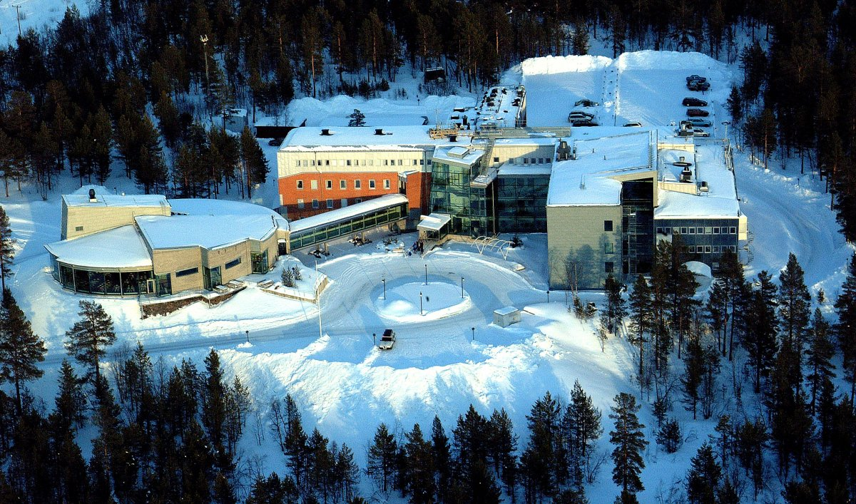 Kiruna Space Campus from the air. (Image: Torbjörn Lövgren, IRF)