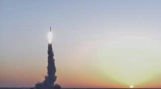 Kaituozhe-2 lifts off from Jiuquan just after sunrise on March 3 local time (CASIC).
