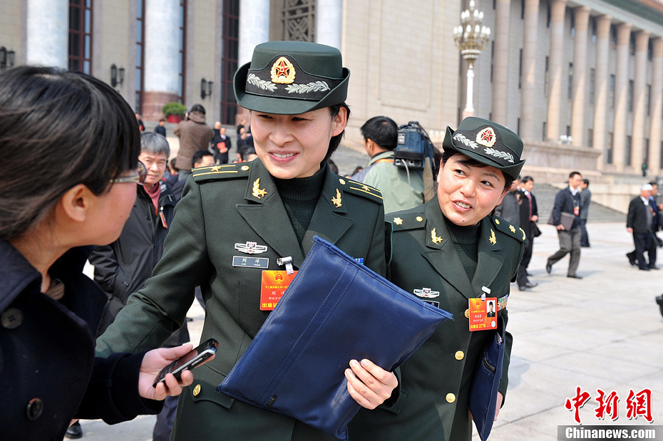 Liu Yang outside the Great Hall of the People in Beijing in March, 2013 (CNS).