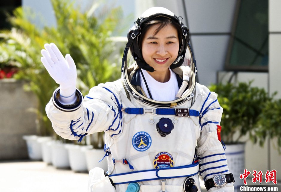 Liu Yang prepares to become China's first female in space in June 2012.