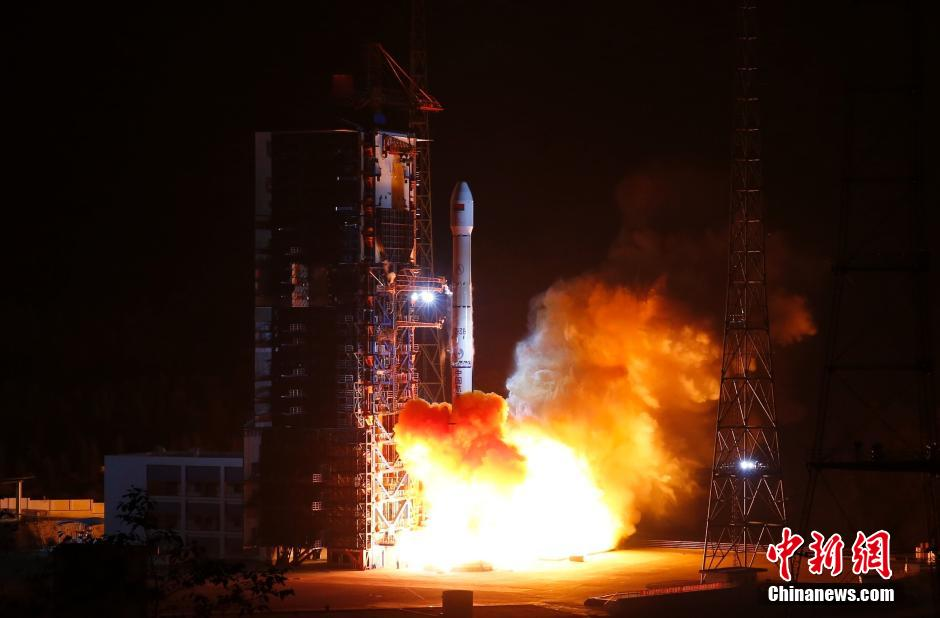 Long March 3B launch from Xichang, launching Belintersat-1 for Belarus in January 2016.