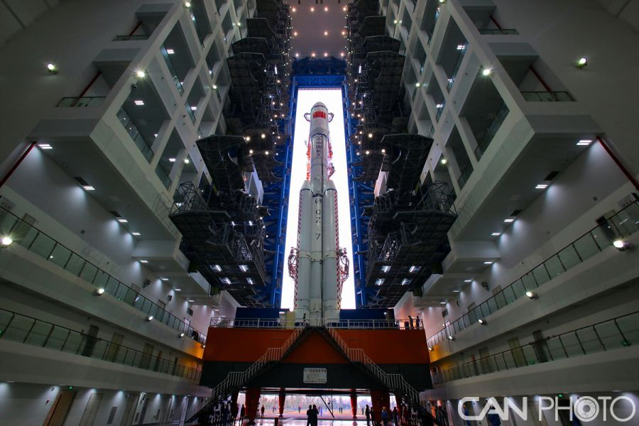 China's Long March 7 rocket (China Aviation News/Huang Zengguang).