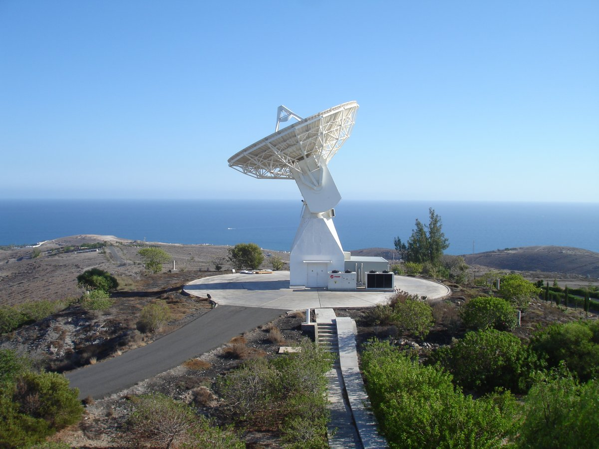 ESA's Maspalomas station hosts a 15-metre antenna with reception in S- and X-Band (ESA).
