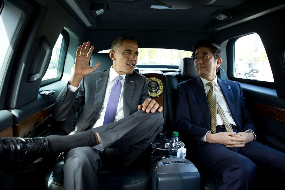 US President Barack Obama and Japanese Prime Minister Shinzo Abe. Source: Pete Souza, Official White House Photo.