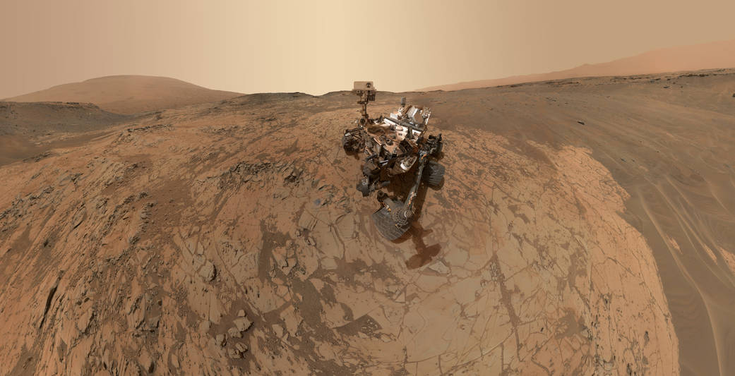 Self-portrait of Nasa's Curiosity Mars rover at the