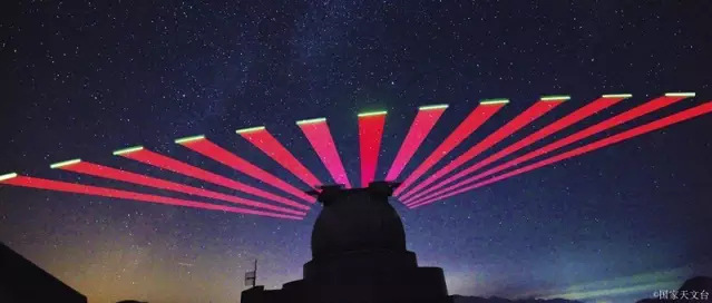Xinglong station interacting with the QUESS satellite during testing (NAOC).