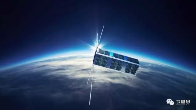 A rendering of the Shaonian Xing, or 'Junior Sat', 2U cubesat in space (Sat-China).