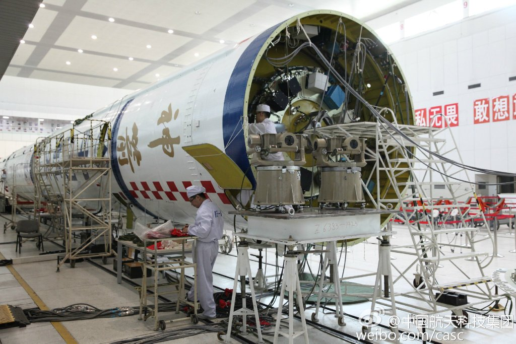 The Long March 2F to launch the Shenzhou-11 spacecraft in Tianjin, North China. (Photo: CASC)