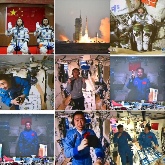 Moments from the shenzhou-11 mission.