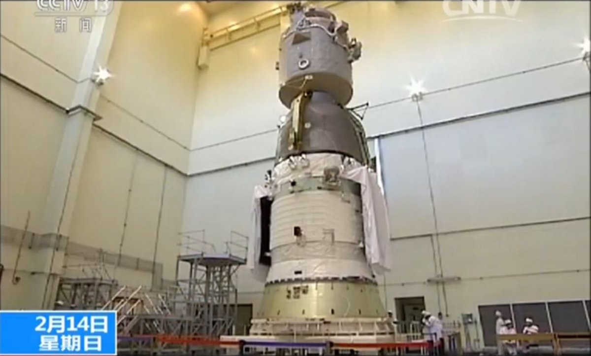 Shenzhou-11 undergoing tests in February 2016 (CCTV/framegrab).