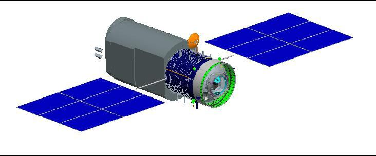 An illustration of China's planned Xuntian Hubble-class space telescope.