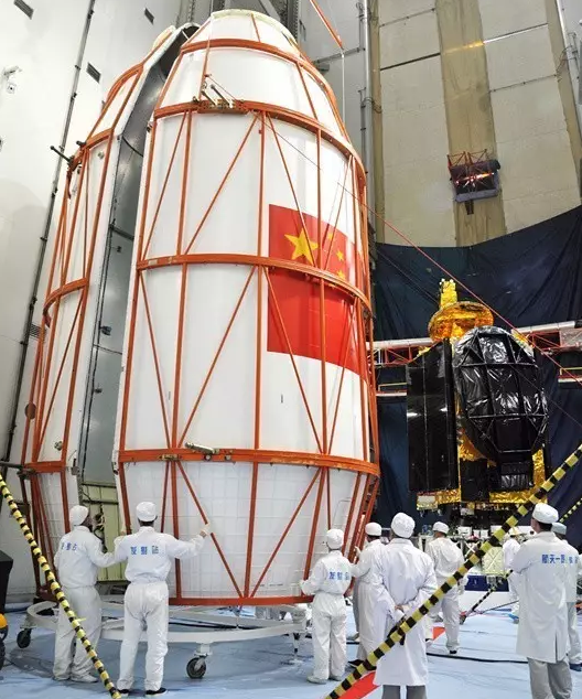 Above: The Zhongxing-9A satellite and payload fairing (CASC).