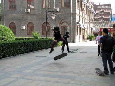 Skateboarding in China