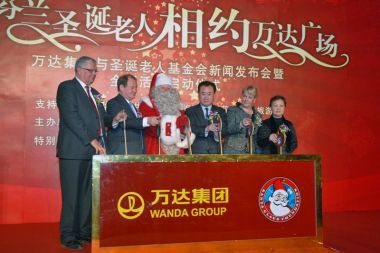 Santa Claus brings his Christmas cheer to China