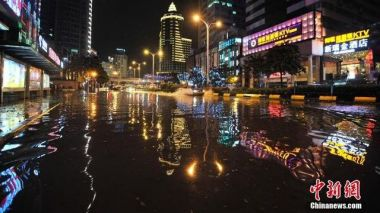 South and east China swarmed with torrential rain