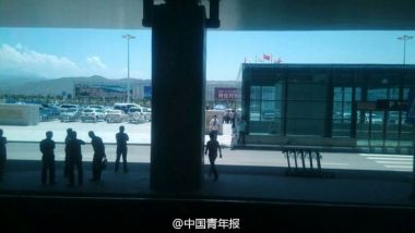 Explosion jolts airport in northwest China, one injured