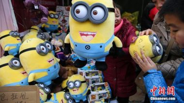 Minions visit the Great Wall of China