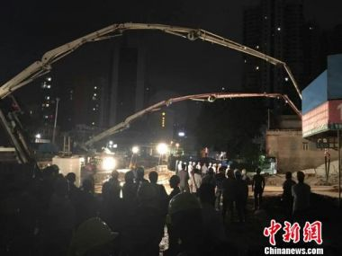 Sinkhole causes three buildings to collapse in south China